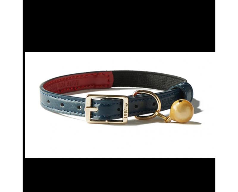 Collier anti-étrangelement Chat Simili cuir bleu foncé et rouge